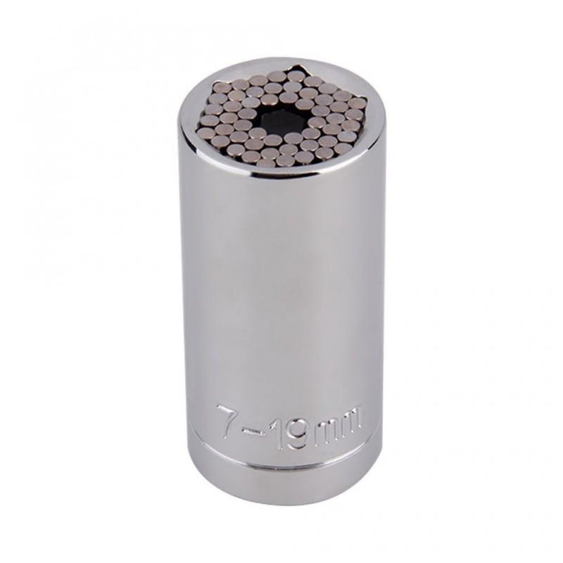 Суперключ Distordo – ключ-трещетка + насадка + переходник для дрели, захват 7-19 мм 188377