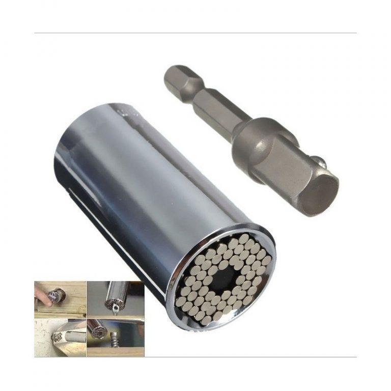 6405 - Насадка для суперключа Distordo 7 - 19 мм + переходник для дрели
