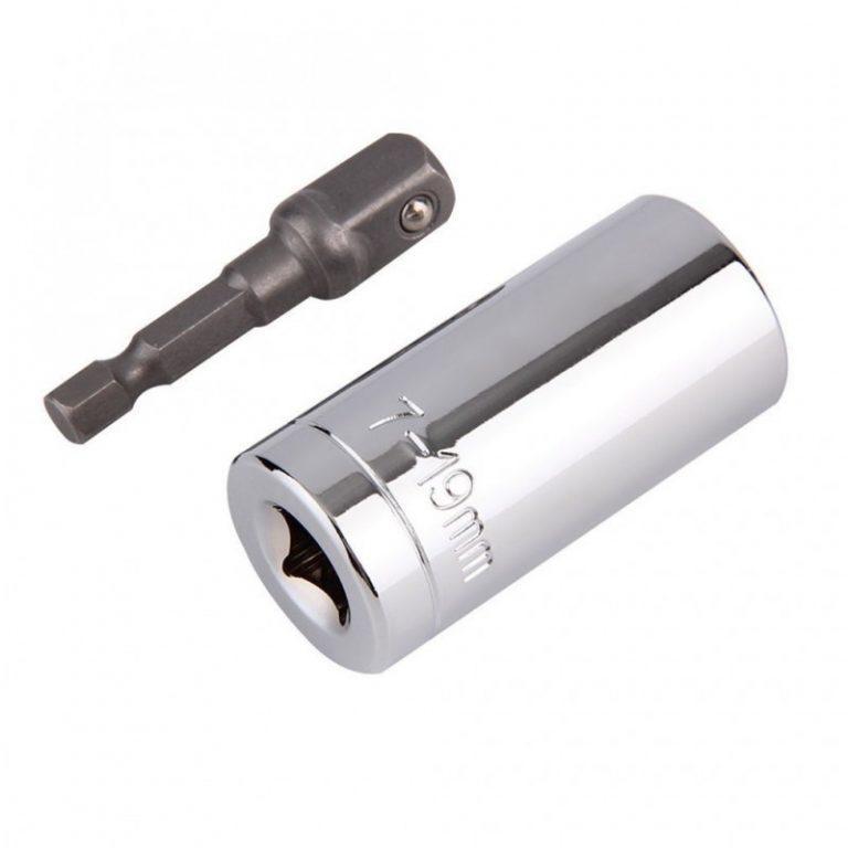 6411 - Насадка для суперключа Distordo 7 - 19 мм + переходник для дрели