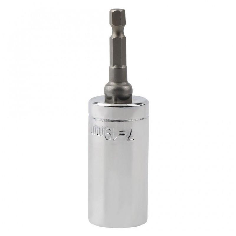 Насадка для суперключа Distordo 7 – 19 мм + переходник для дрели 188373