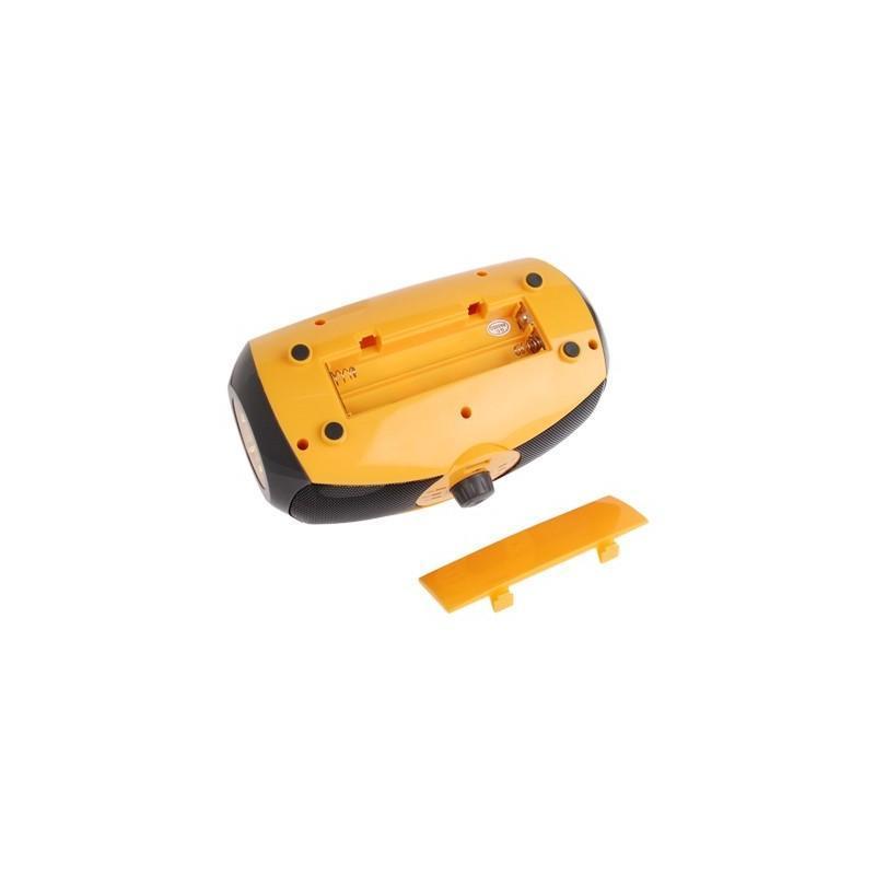 Портативный плеер S-34 с динамиком + радио + фонарь + power bank (USB-порт, поддержка SD-карт, динамо машина) 188390