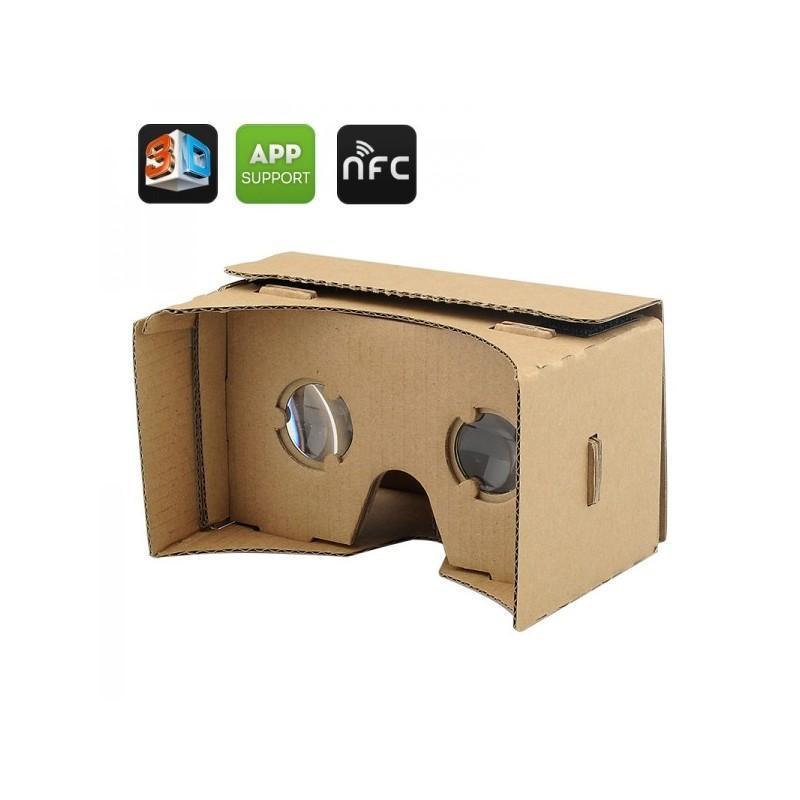 """Картонные 3D-очки """"Сделай сам"""" от Google: горизонтальная стереопара, линзы в комплекте, для смартфонов до 13,5 см в длину"""