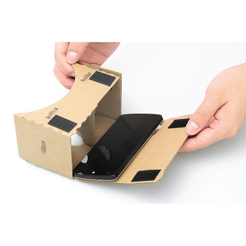 """Картонные 3D-очки """"Сделай сам"""" от Google: горизонтальная стереопара, линзы в комплекте, для смартфонов до 13,5 см в длину 188652"""