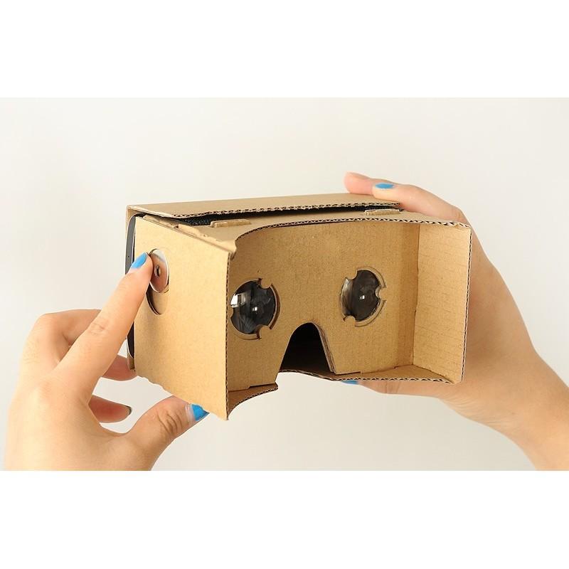 """Картонные 3D-очки """"Сделай сам"""" от Google: горизонтальная стереопара, линзы в комплекте, для смартфонов до 13,5 см в длину 188653"""