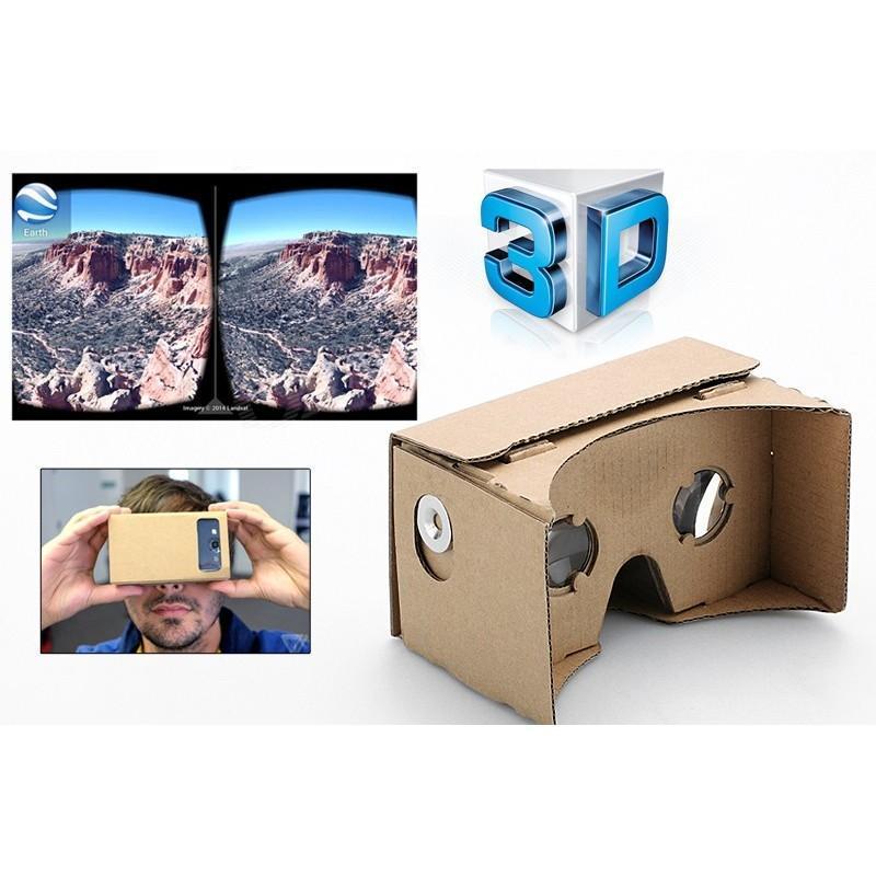 """Картонные 3D-очки """"Сделай сам"""" от Google: горизонтальная стереопара, линзы в комплекте, для смартфонов до 13,5 см в длину 188656"""