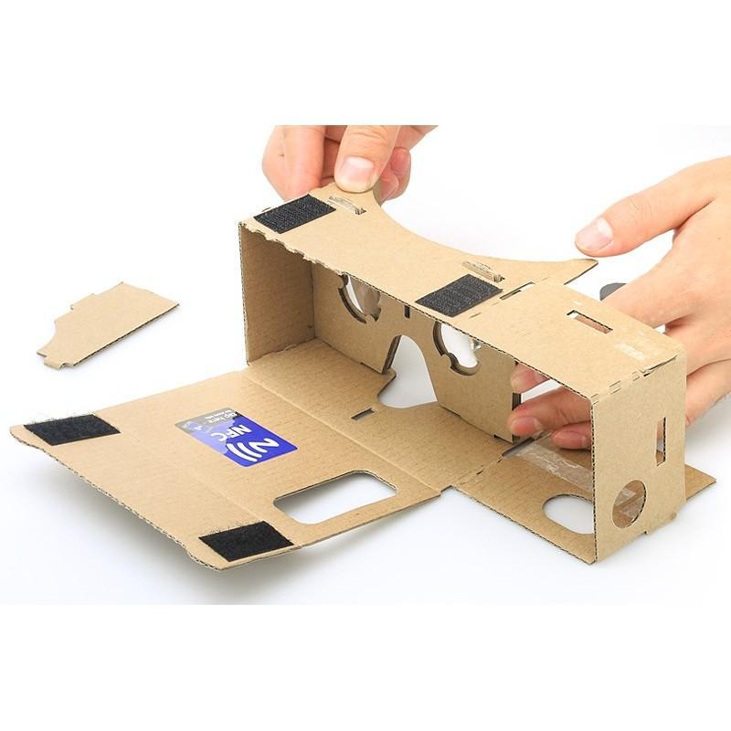 """Картонные 3D-очки """"Сделай сам"""" от Google: горизонтальная стереопара, линзы в комплекте, для смартфонов до 13,5 см в длину 188657"""