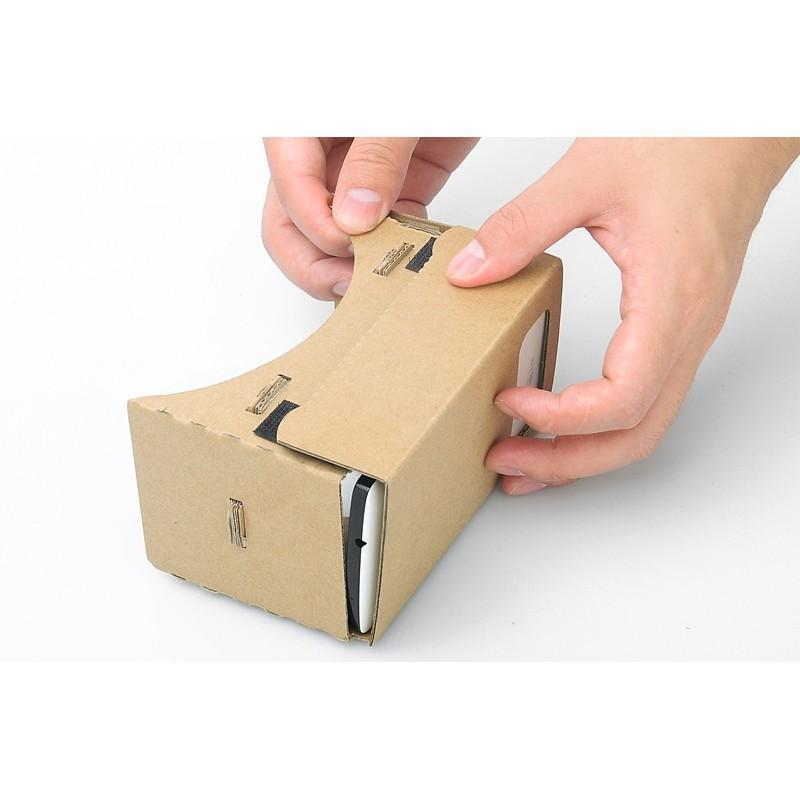 """Картонные 3D-очки """"Сделай сам"""" от Google: горизонтальная стереопара, линзы в комплекте, для смартфонов до 13,5 см в длину 188659"""