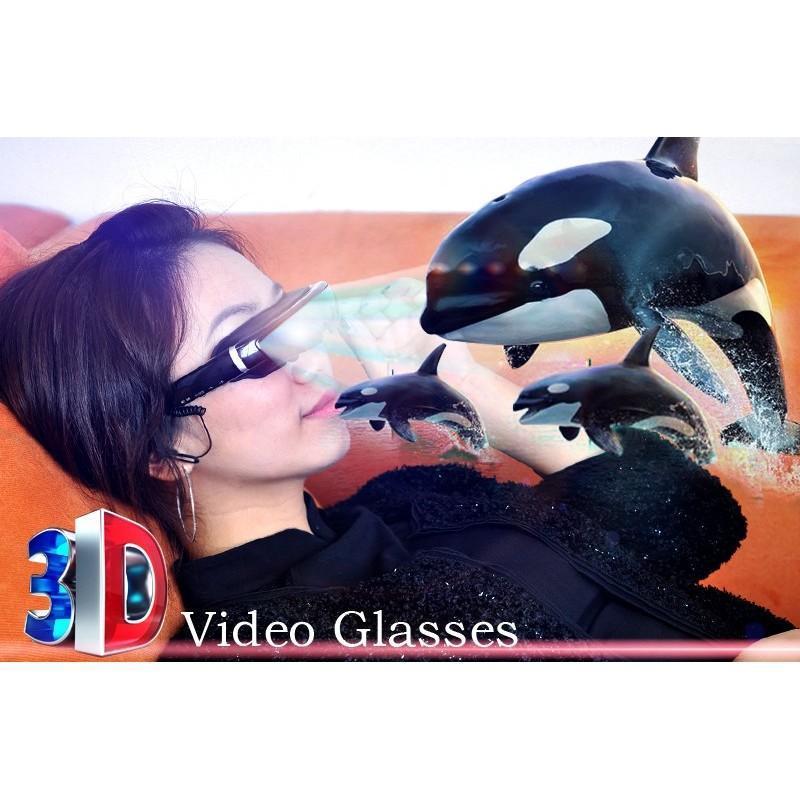 2D / 3D видео-очки E379: виртуальный экран 98 дюймов, Full HD 1080p, AV-подключение, поддержка SD-карты 188666