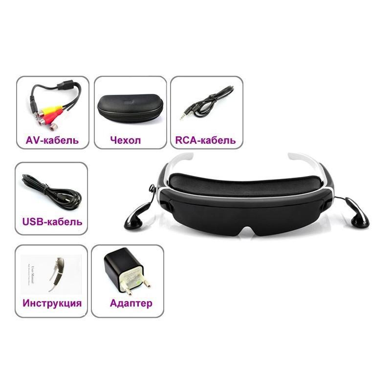 2D / 3D видео-очки E379: виртуальный экран 98 дюймов, Full HD 1080p, AV-подключение, поддержка SD-карты 188671