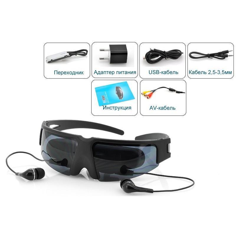Видео-очки E347: виртуальный экран 52 дюйма, AV-подключение, NTSC/PAL/SECAM 188691