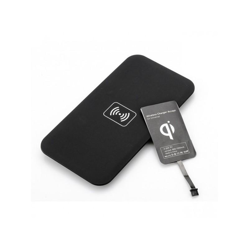 Зарядная площадка Qi + универсальный приемник для смартфонов с Micro USB A389 (беспроводная индукционная передача энергии)