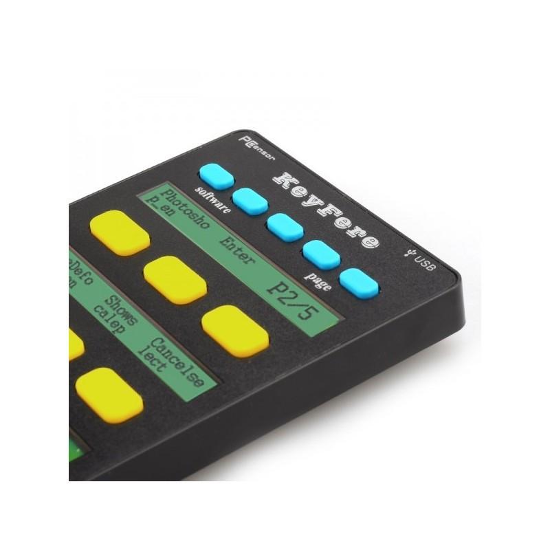 Универсальная программируемая USB-клавиатура: 20 клавиш, LCD-дисплей, подключение по OTG 188739