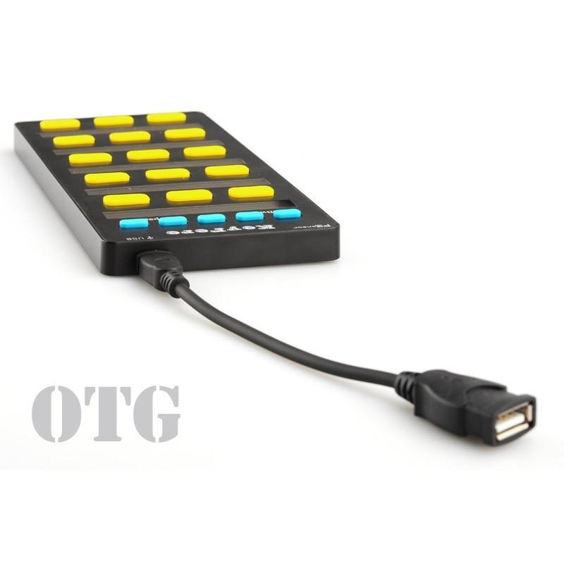 Универсальная программируемая USB-клавиатура: 20 клавиш, LCD-дисплей, подключение по OTG 188744