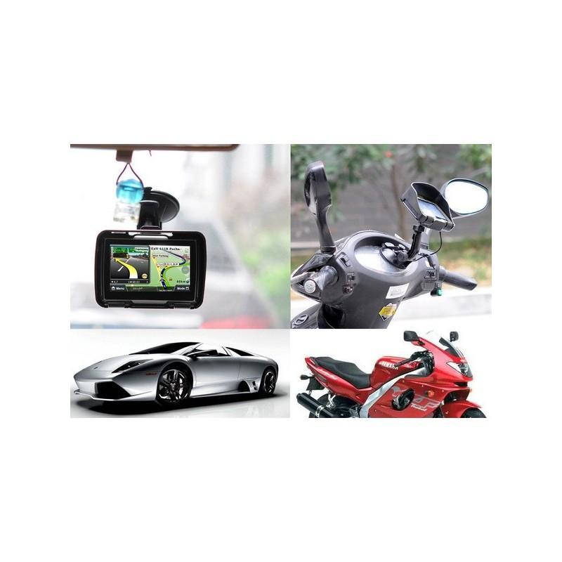 """Мотоциклетный GPS-навигатор """"Rage TR53"""" – экран 4,3 дюйма, водонепроницаемость IPX7, 8 Гб внутренней памяти, Bluetooth 188897"""