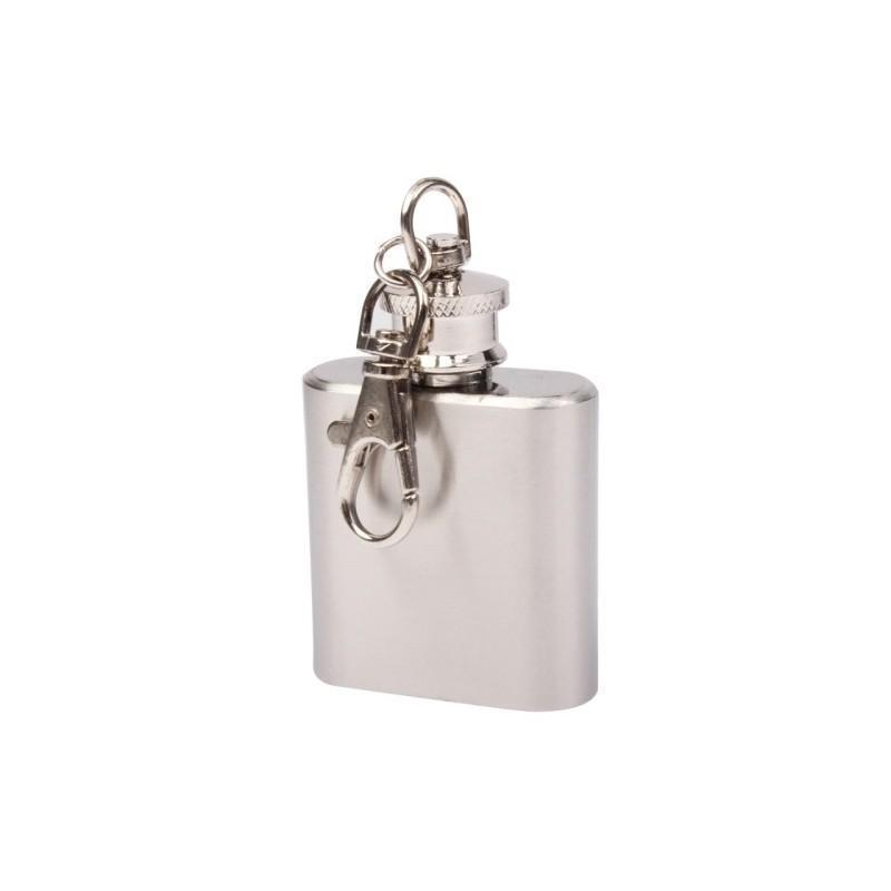 Фляга-брелок на 1 oz (30 мл), нержавеющая сталь 188904