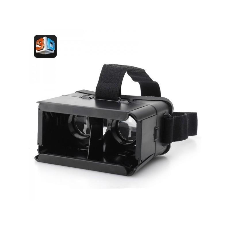 3D-очки для смартфонов (горизонтальная стереопара): 4-7″, регулируемое межзрачковое расстояние, повязка на голову
