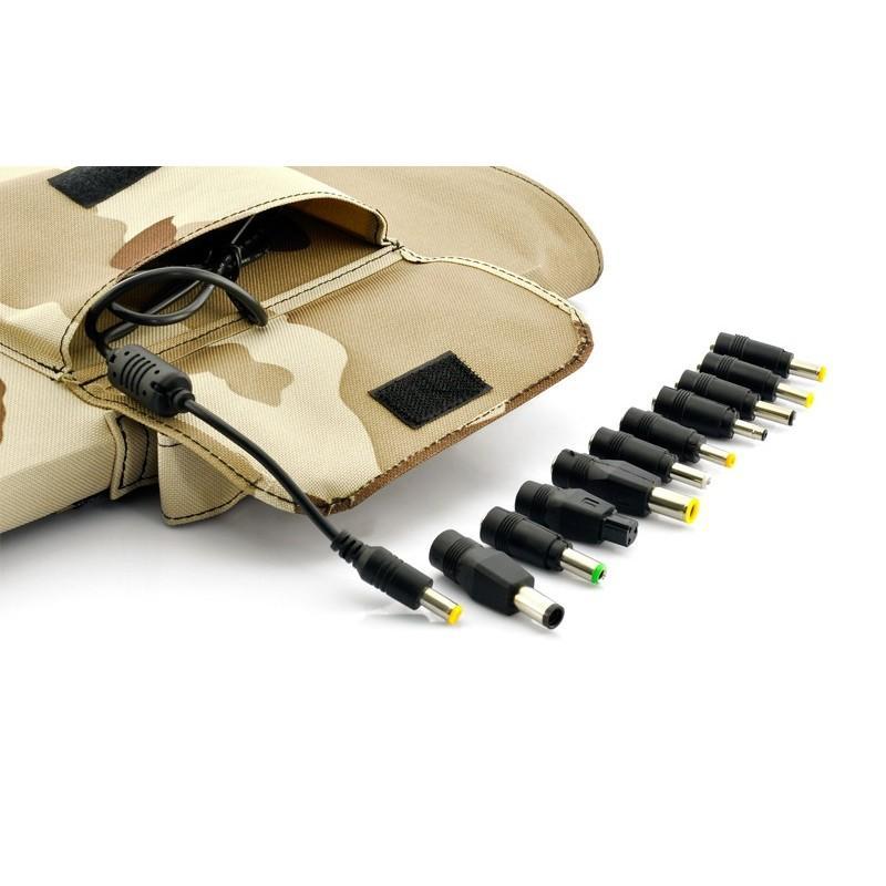 Солнечная зарядка S63 в водонепроницаемом чехле (мощность: 30 Вт) + 10 адаптеров для ноутбуков 189199