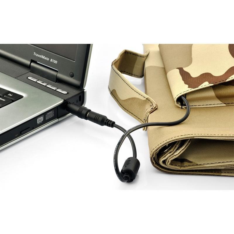 Солнечная зарядка S63 в водонепроницаемом чехле (мощность: 30 Вт) + 10 адаптеров для ноутбуков 189204