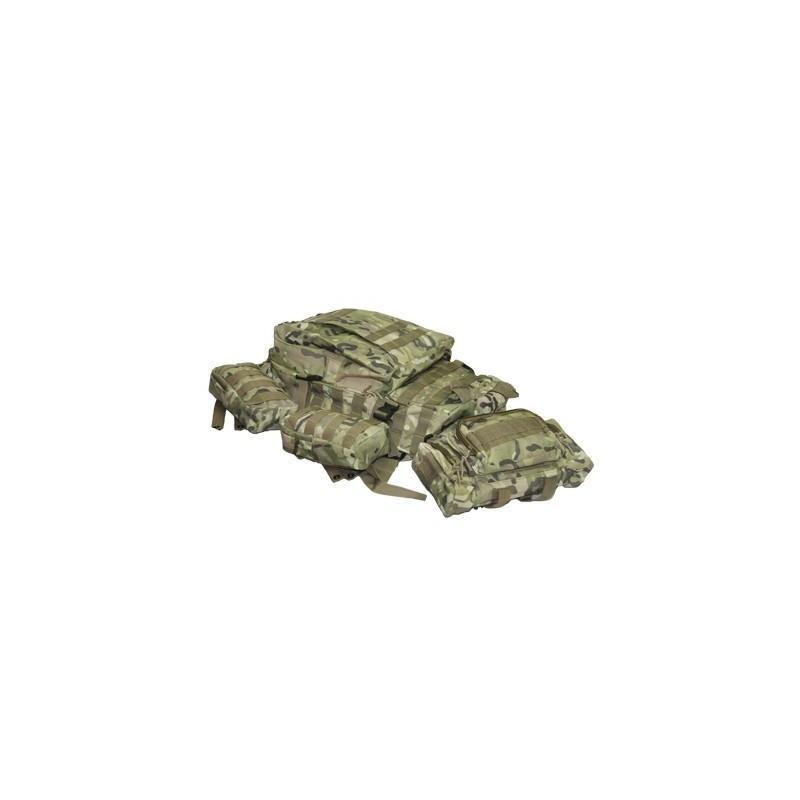 Военный трекинговый рюкзак MOLLE: нейлон 800D, водоотталкивающее покрытие, дополнительные сумки 189207
