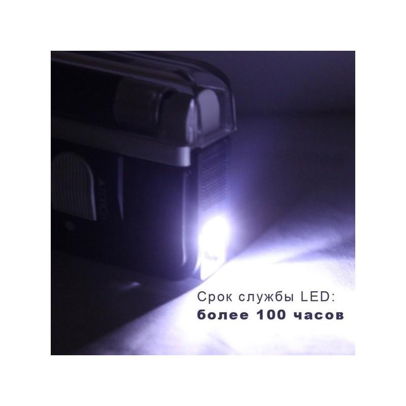 Портативная ультрафиолетовая лампа для проверки водяных знаков (деньги, документы, паспорта) + фонарик 189229