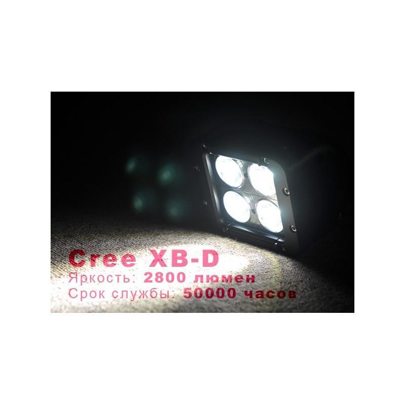 Дополнительная LED-фара LT189 на автомобиль: светодиоды CREE XB-D (4 шт), 2800 люмен, водонепроницаемая (IP65) 189306