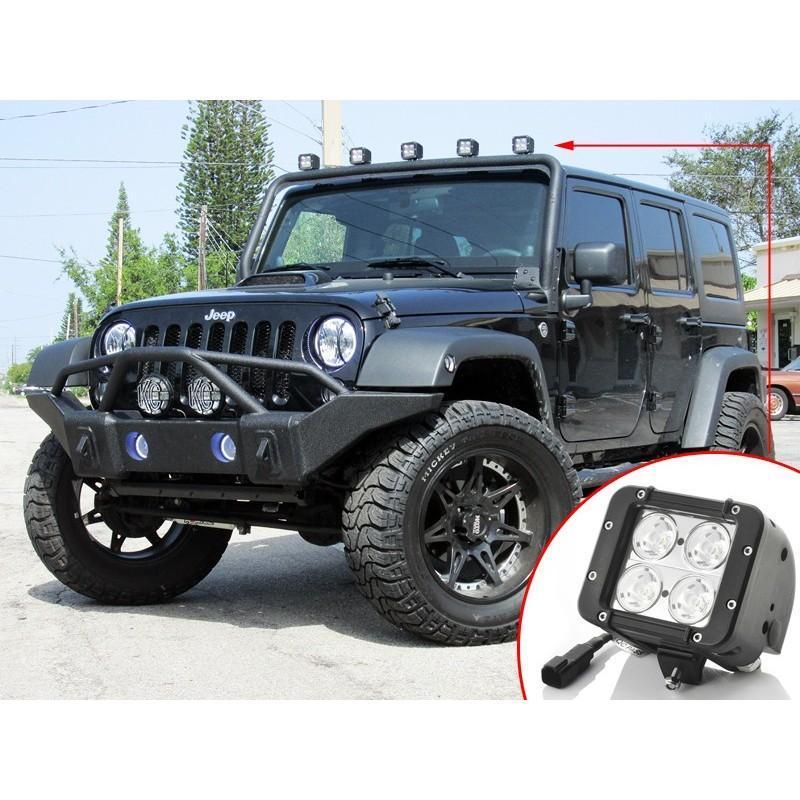 Дополнительная LED-фара LT189 на автомобиль: светодиоды CREE XB-D (4 шт), 2800 люмен, водонепроницаемая (IP65) 189312