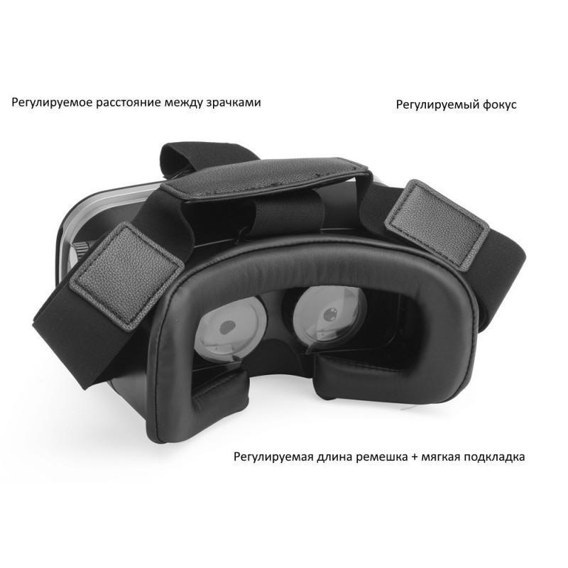 Очки виртуальной реальности 3D VR Overworld – для телефона 3,5-6 дюймов, дистанционное управление по Bluetooth, мягкая подкладка 189328
