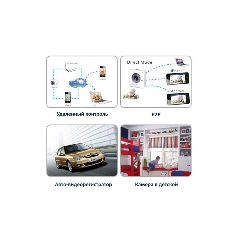 Wi-Fi камера Easy Eye – HD 720p, 1.3 МП, циклическая запись, микрофон, поддержка iOS и Android 189337