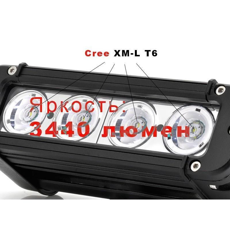 LED-прожектор LT187 на автомобиль (светодиоды CREE, 40 Ватт, 3440 люмен, водонепроницаемый) 189390