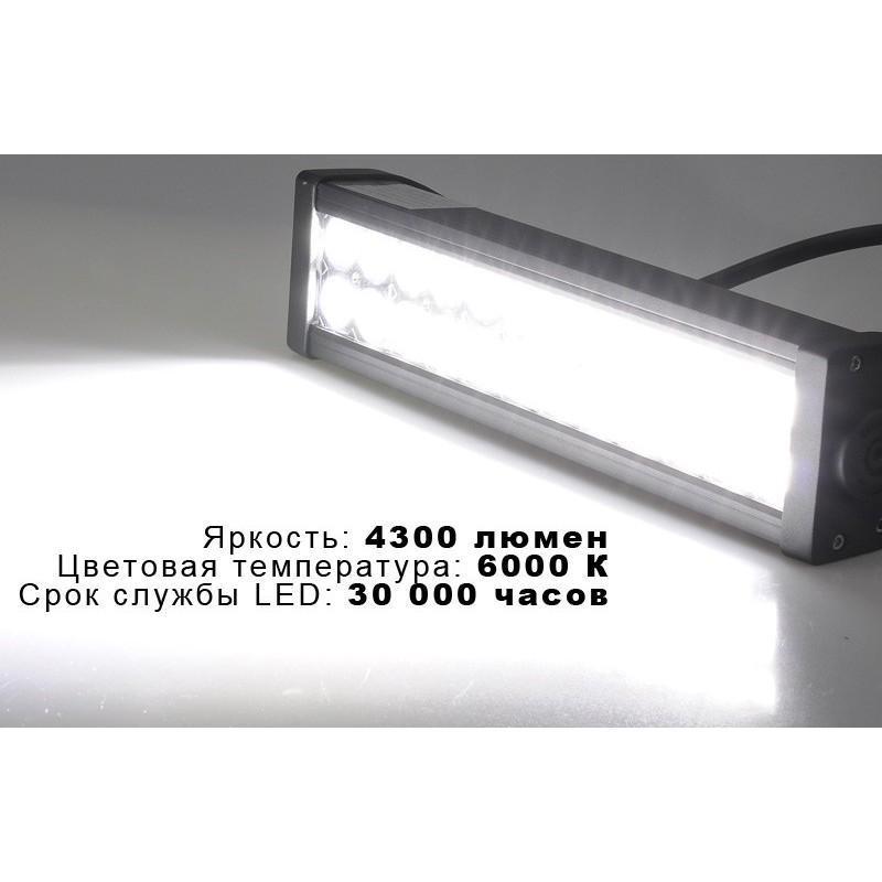 Светодиодный прожектор LT252 на автомобиль (24 Epistar LED, яркость 4300 люмен) 189397