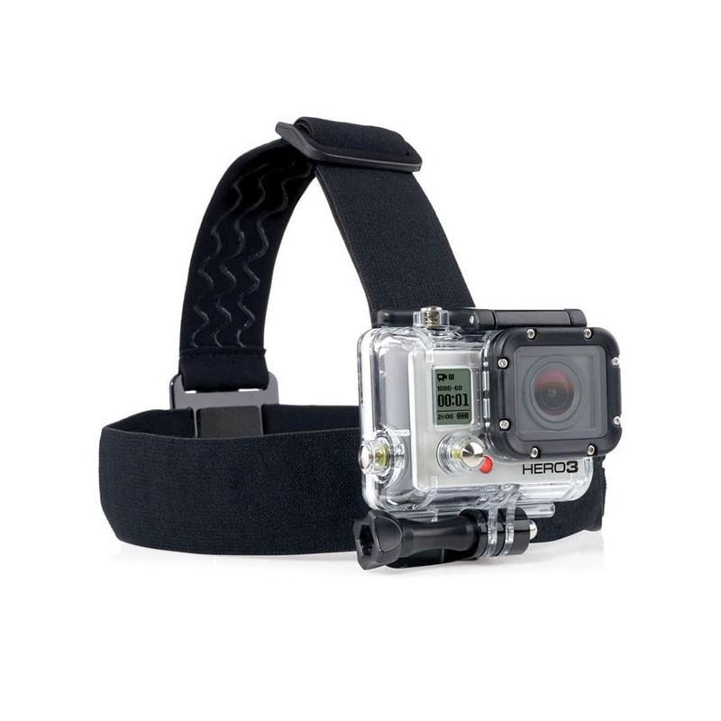 Повязка на голову с креплением для камеры GoPro Hero (эластичный нейлон + пластик и сталь)