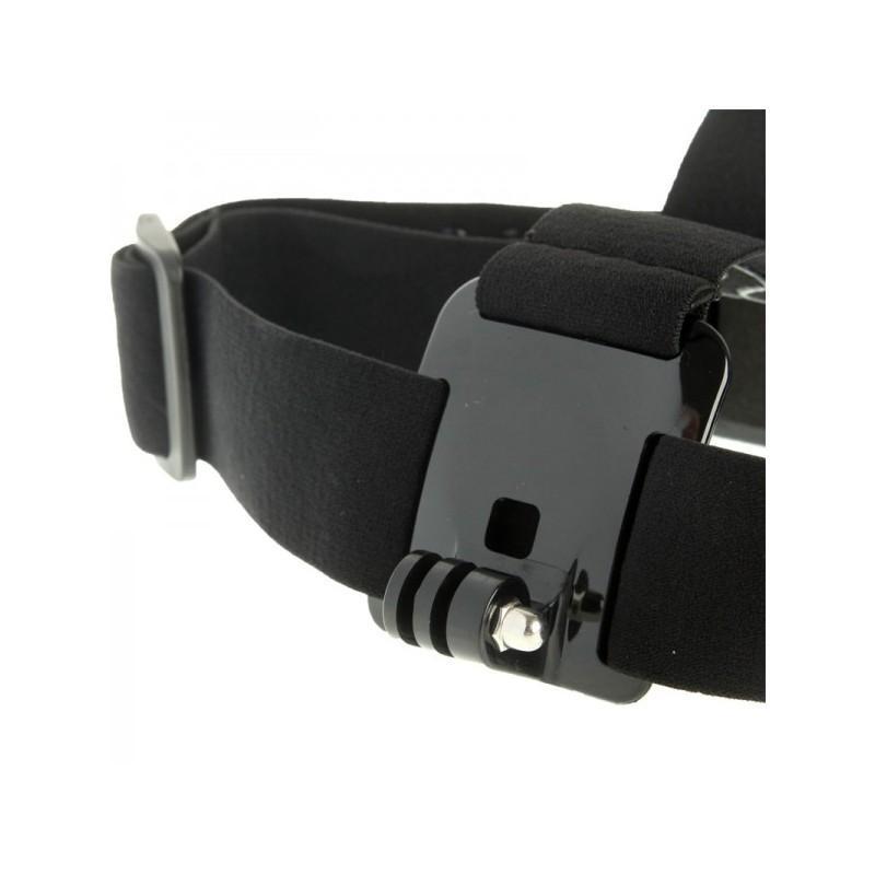 Повязка на голову с креплением для камеры GoPro Hero (эластичный нейлон + пластик и сталь) 189406