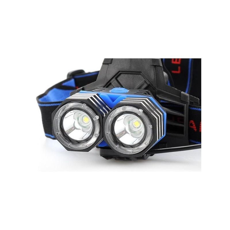 Налобный светодиодный фонарь LT242 – 2 светодиода CREE XM-L T6, 1600 лм, 4 режима, USB 189871
