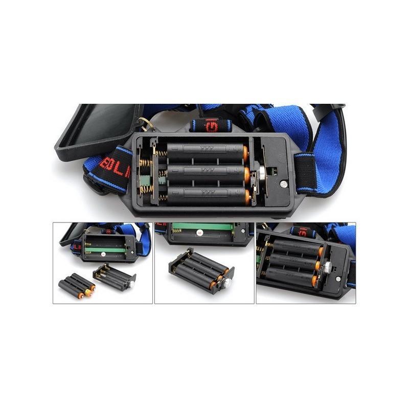 Налобный светодиодный фонарь LT242 – 2 светодиода CREE XM-L T6, 1600 лм, 4 режима, USB 189872
