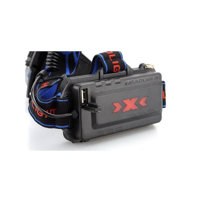 Налобный светодиодный фонарь LT242 – 2 светодиода CREE XM-L T6, 1600 лм, 4 режима, USB 189875