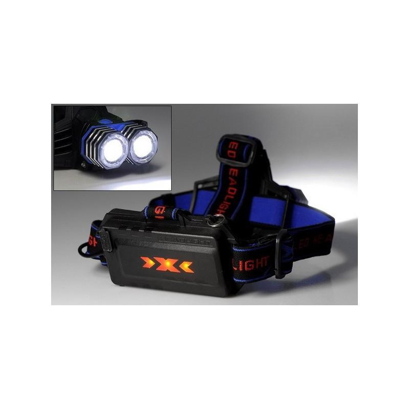 Налобный светодиодный фонарь LT242 – 2 светодиода CREE XM-L T6, 1600 лм, 4 режима, USB 189876