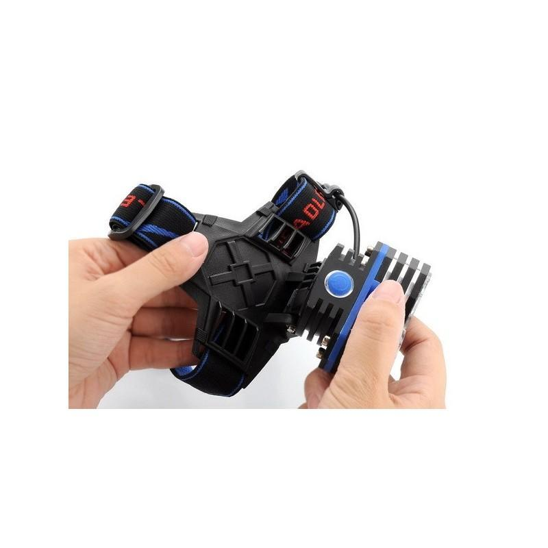 Налобный светодиодный фонарь LT242 – 2 светодиода CREE XM-L T6, 1600 лм, 4 режима, USB 189878