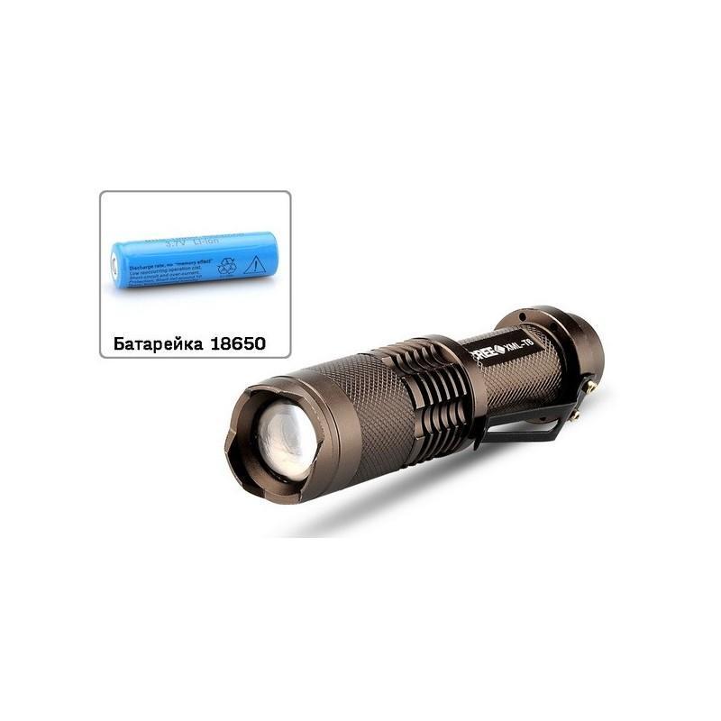 Светодиодный мини-фонарь LT243 – CREE XML T6, 1200 лм, водонепроницаемый, 5 режимов 189886
