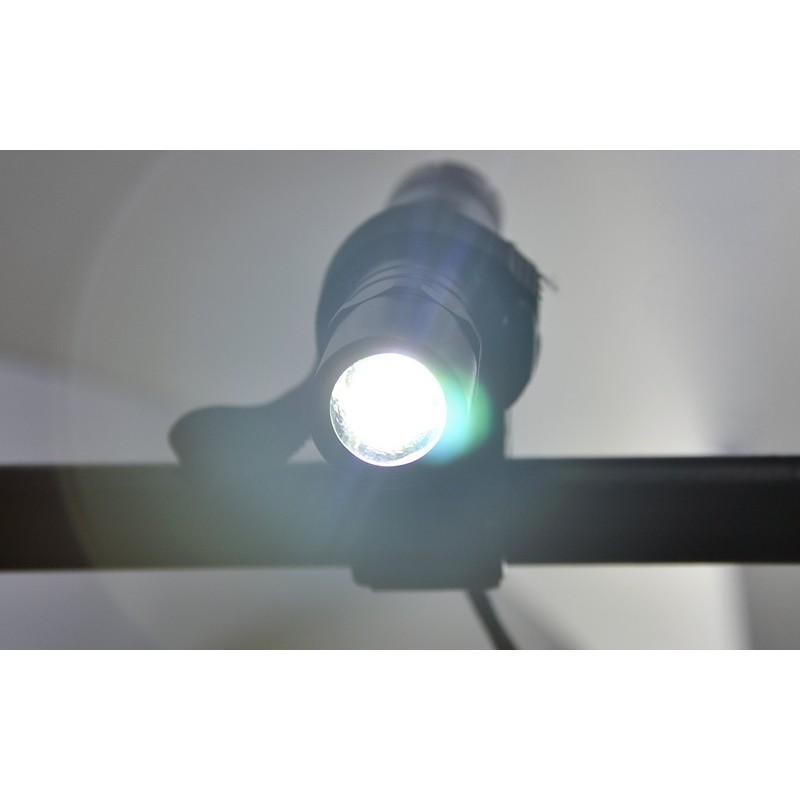 Металлический водонепроницаемый фонарик G491 CREE (XML U2, яркость 550 люмен, крепление для велосипеда) 189898