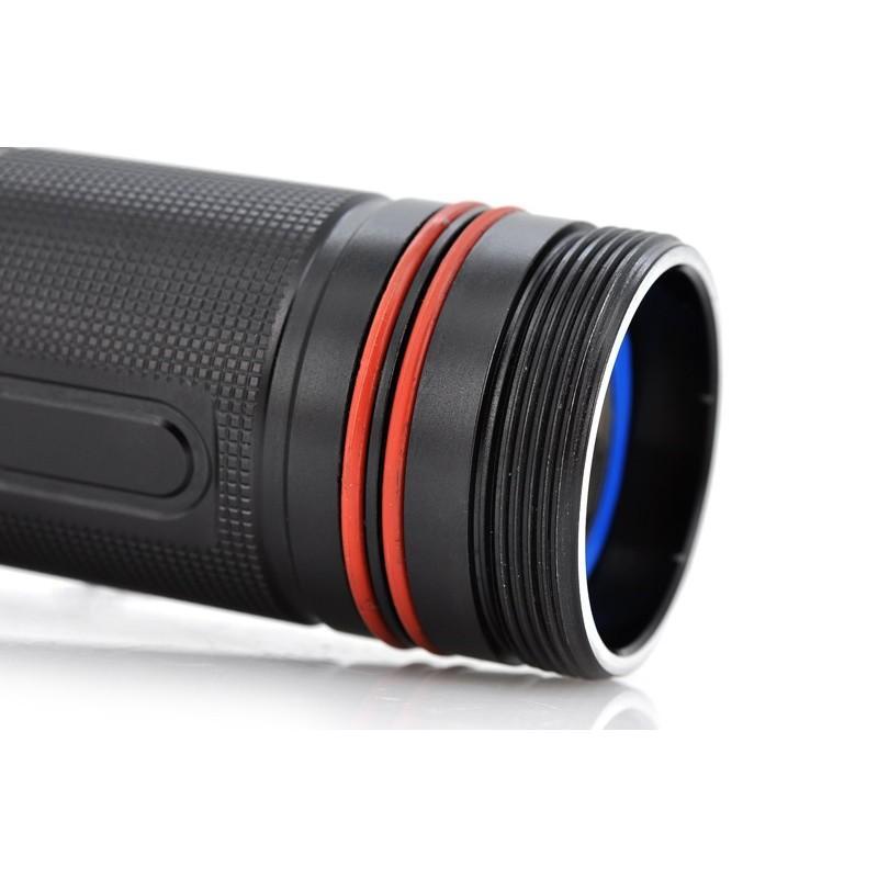 Водонепроницаемый фонарик (Cree XM-L T6 LED, яркость 1000 люмен, погружение под воду до 60 м) 189922