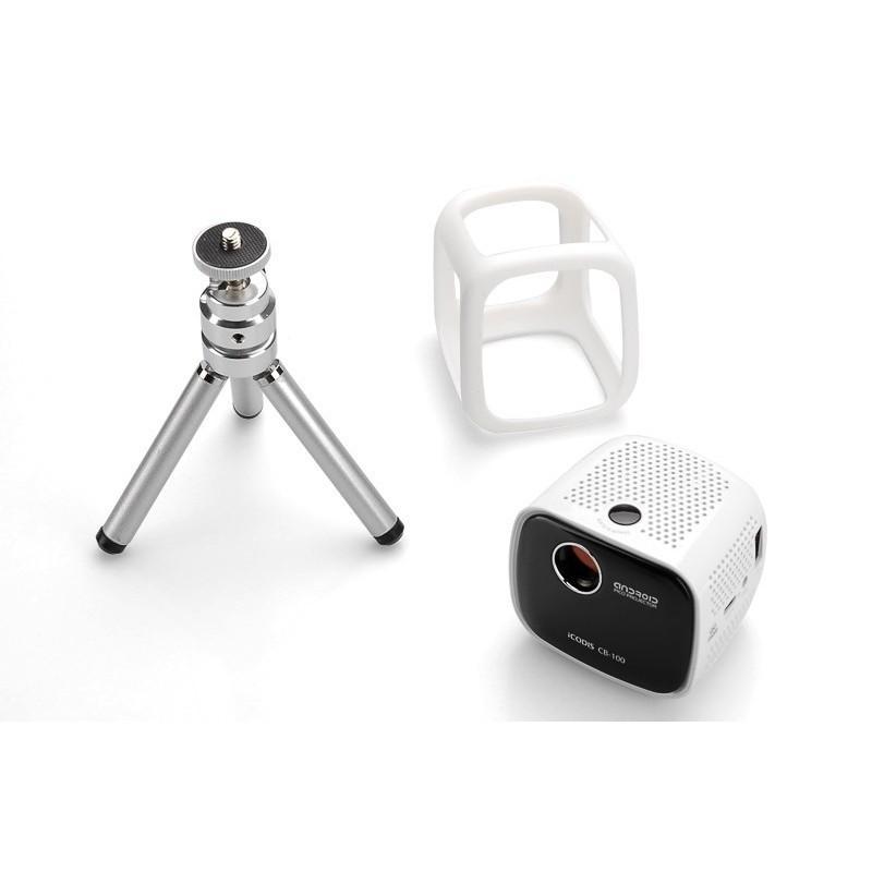 Портативный проектор iCODIS CB-100 DLP – 45 люмен, Android 4.4, 2-ядерный процессор, 854×480, DNLA, Wi-Fi, Bluetooth
