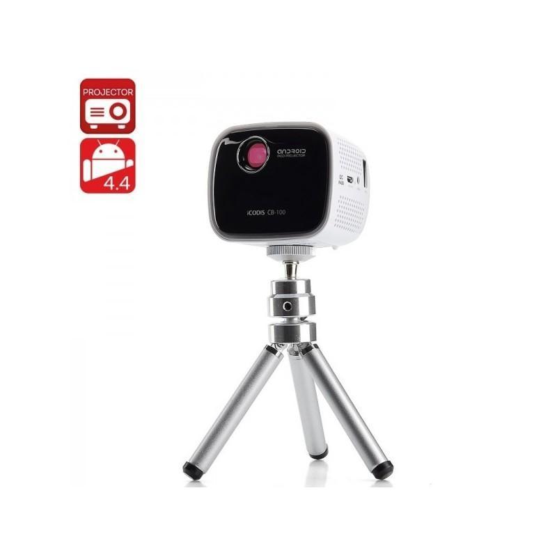 Портативный проектор iCODIS CB-100 DLP – 45 люмен, Android 4.4, 2-ядерный процессор, 854×480, DNLA, Wi-Fi, Bluetooth 189947