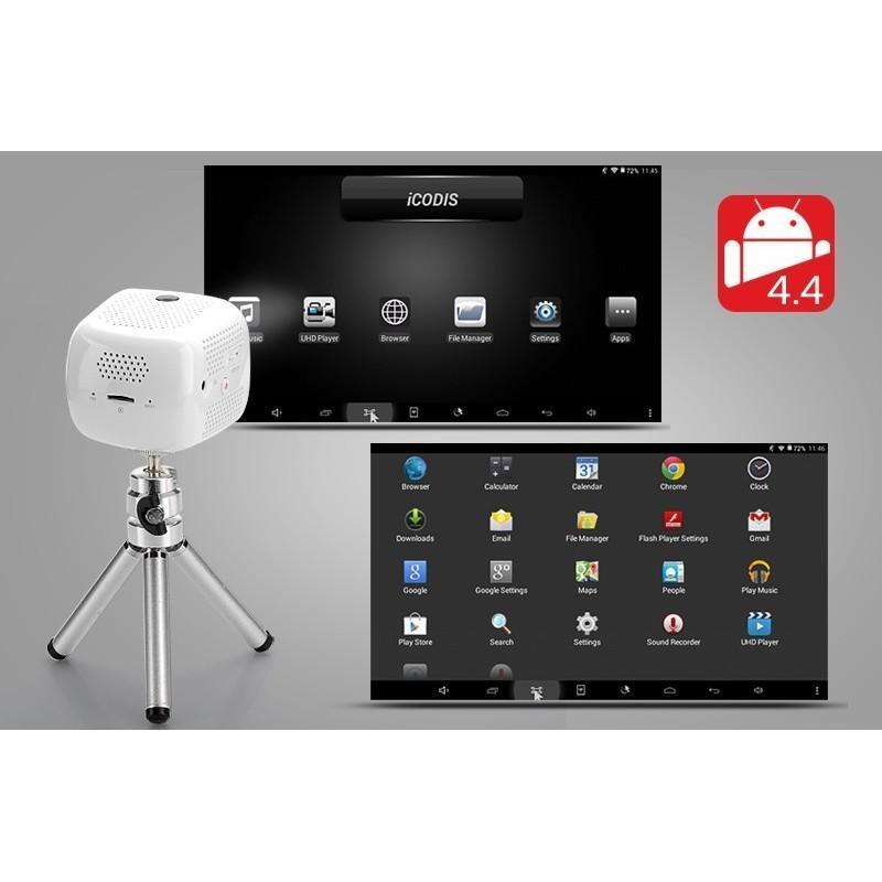 Портативный проектор iCODIS CB-100 DLP – 45 люмен, Android 4.4, 2-ядерный процессор, 854×480, DNLA, Wi-Fi, Bluetooth 189949