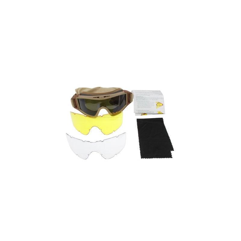 """Защитные баллистические очки """"Саранча"""" с 3-мя сменными линзами"""