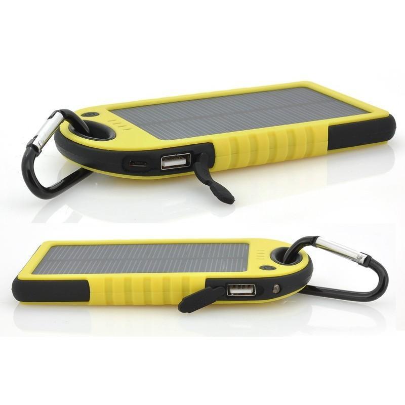 Противоударная водонепроницаемая портативная зарядка с солнечной панелью SolarJet S77 (аккумулятор на 5000 mAh,2 USB,LED-факел) 189967