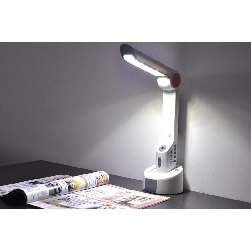 Многофункциональная LED-лампа LT141 с ручной зарядкой – радио, солнечная панель, фонарик, Power Bank/внешний аккумулятор, USB 189996