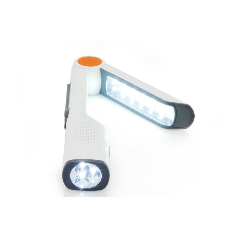 Многофункциональная LED-лампа LT141 с ручной зарядкой – радио, солнечная панель, фонарик, Power Bank/внешний аккумулятор, USB 189998