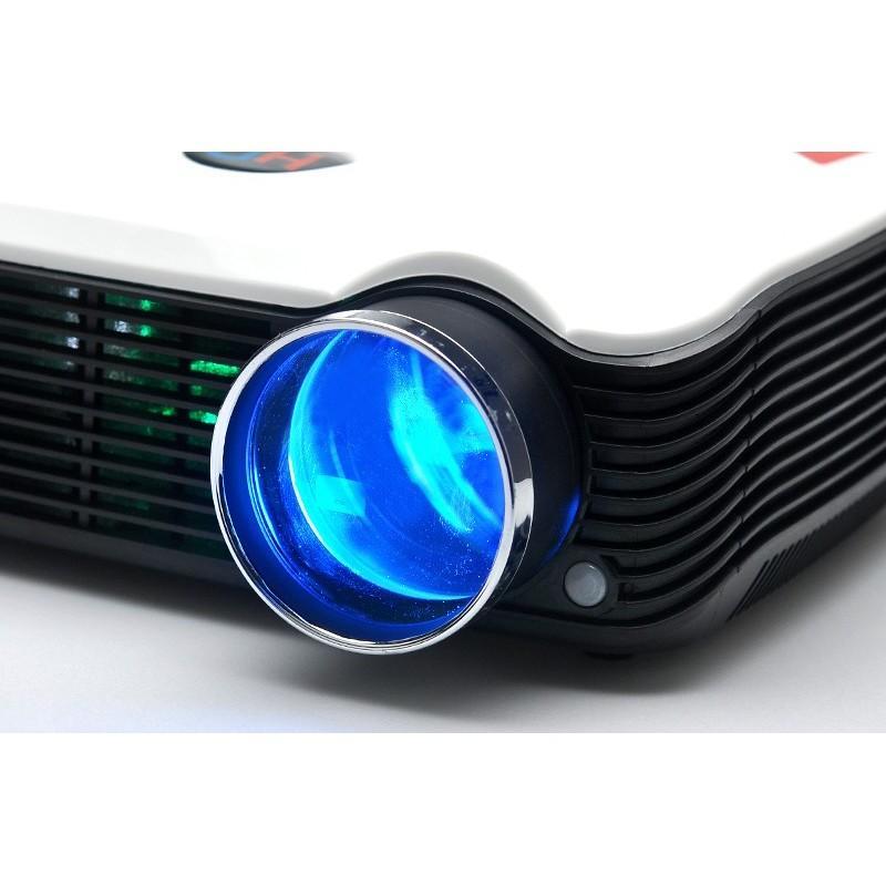 LED видеопроектор Modern teck: TV-тюннер, 2500 ANSI-люмен, 2000:1 контраст, HDMI, VGA, AV, S-Video, 2xUSB 190018