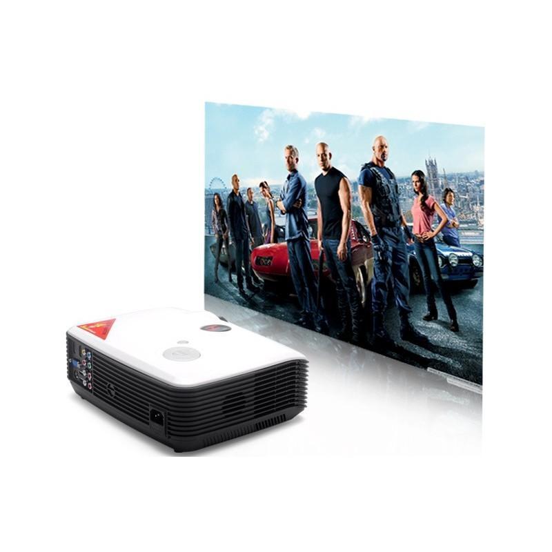 LED видеопроектор Modern teck: TV-тюннер, 2500 ANSI-люмен, 2000:1 контраст, HDMI, VGA, AV, S-Video, 2xUSB 190021