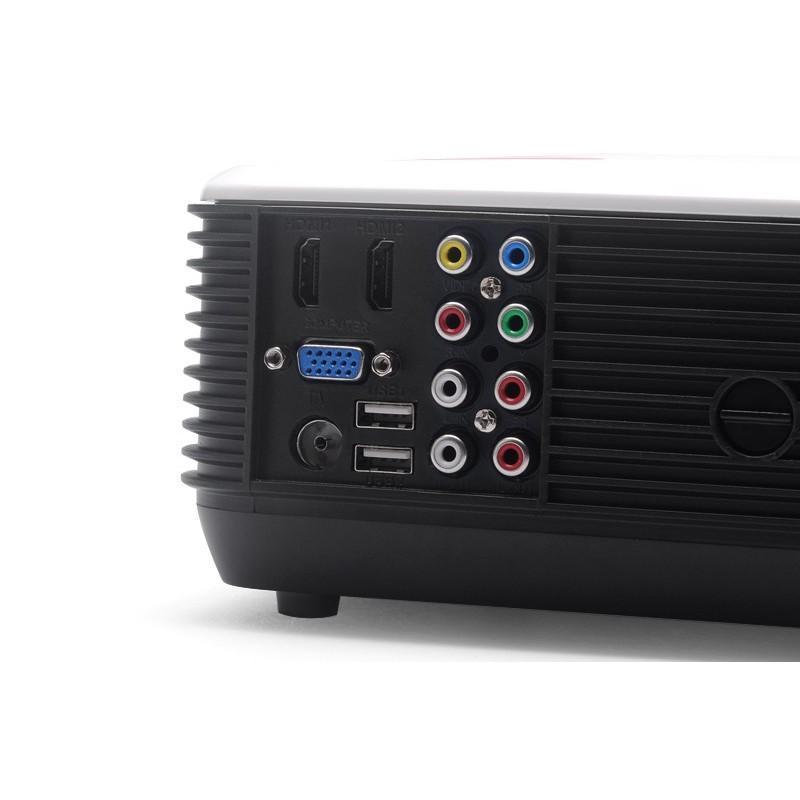LED видеопроектор Modern teck: TV-тюннер, 2500 ANSI-люмен, 2000:1 контраст, HDMI, VGA, AV, S-Video, 2xUSB 190022